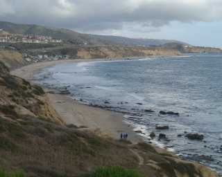 Laatmiddag langs die see by crystal cove